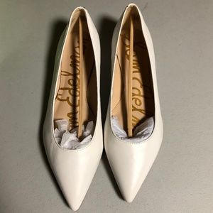Sam Edelman Sally Ballet Flat Bright White Leather